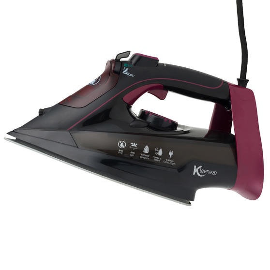 Kleeneze KL0948 Steam Iron, 3000 W, Black