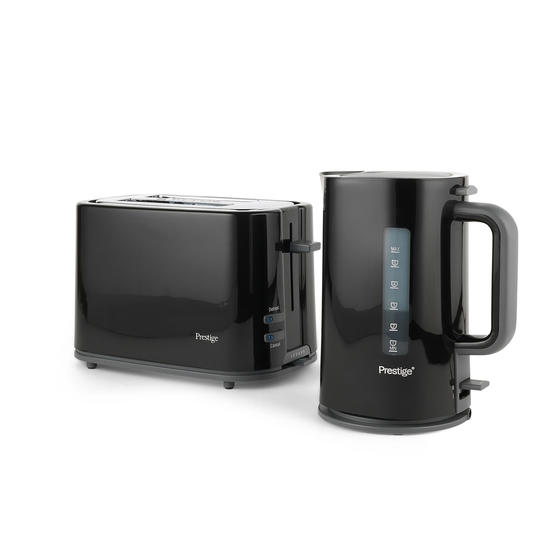 Prestige COMBO-5909 Eco 1.7 Litre Kettle and 2-Slice Toaster with High-Lift/Auto Pop-Up, Black