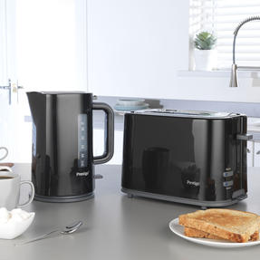 Prestige COMBO-5909 Eco 1.7 Litre Kettle and 2-Slice Toaster with High-Lift/Auto Pop-Up, Black Thumbnail 2