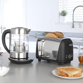 Prestige COMBO-5911 2-in-1 Glass Kettle with Digital Base and 2-Slice Toaster with High-Lift Function Thumbnail 2