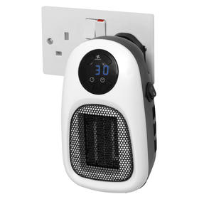 Prolectrix COMBO-5935 Portable Flat Fan Heater and Cooler with Digital Plug-In Mini Heater, 2000/500 W, White Thumbnail 9
