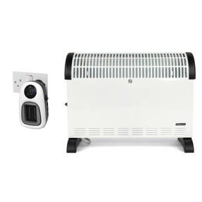 Prolectrix COMBO-5937 Electric Portable Convector Heater and Digital Plug-In Portable Mini Heater, 2000/500 W