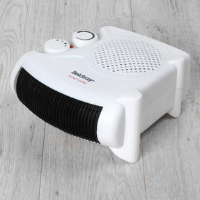 Beldray COMBO-6025 Portable Flat Fan Heater and Cooler with Digital Plug-In Mini Heater, 2000/500 W, White Thumbnail 3