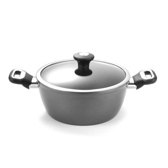 Thomas 1406203 Titanium Casserole Pan with Glass Lid, 24 cm, 3.8 L