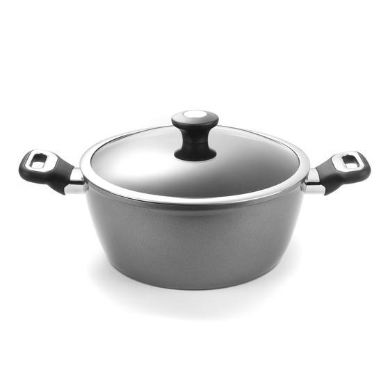 Thomas 1406204 Titanium Casserole Pan with Glass Lid, 26 cm, 5 L