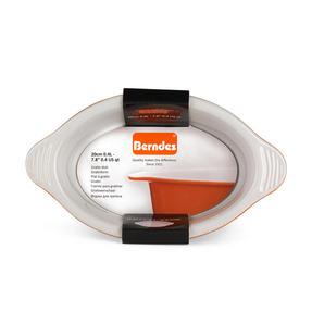 Berndes 1503902 Stoneware Gratin, 20 cm, Orange