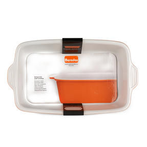 Berndes 1503904 Stoneware Rectangular Roaster, 32.5 cm, Orange