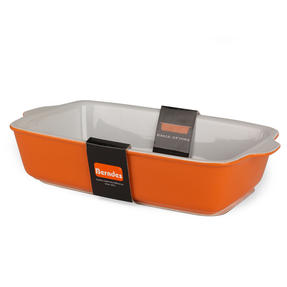 Berndes 1503904 Stoneware Rectangular Roaster, 32.5 cm, Orange Thumbnail 2