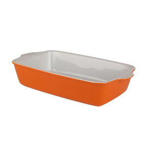 Berndes 1503904 Stoneware Rectangular Roaster, 32.5 cm, Orange Thumbnail 3