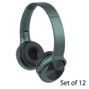 Intempo COMBO-5952 Urban WDS180 Wireless Bluetooth Foldable Headphones, Green, Set of 12