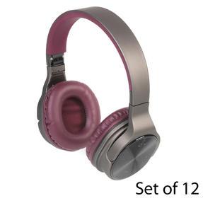 Intempo COMBO-5953 Opulence WDS25 Wireless Bluetooth Headphones, Gold/Berry, Set of 12