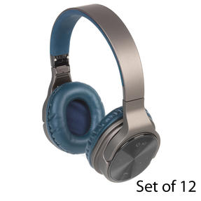 Intempo COMBO-5954 Opulence WDS25 Wireless Bluetooth Headphones, Blue, Set of 12