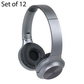 Intempo COMBO-5957 Urban WDS180 Wireless Bluetooth Foldable Headphones, Grey, Set of 12