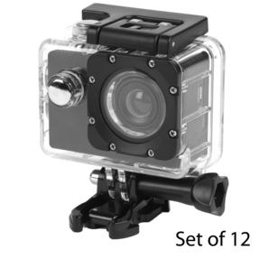 Intempo COMBO-5959 Waterproof Wide Angle IPX8 Action Camera,  Set of 12