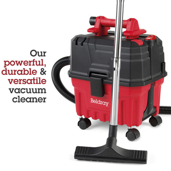 Beldray® Wet & Dry 3-in-1 Caddy Vacuum Cleaner with Blow Function | Accessories Included | 1200 W/17 kPa | 6 L Tank | 4.5 Metre Cord | HEPA Filter | Red Thumbnail 3