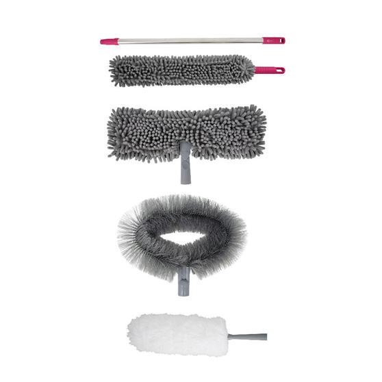 Kleeneze 5-Piece Cleaning Set, Grey/Pink