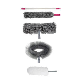 Kleeneze 5-Piece Cleaning Set, Grey/Pink