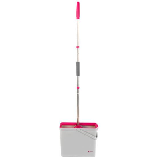 Kleeneze® KL066831EU PVA Floor Mop And Bucket Set, 37 x 12.5 x 31.5cm, Pink/Grey