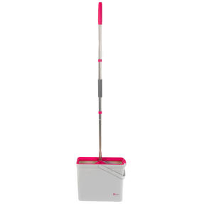 Kleeneze® KL066831EU PVA Floor Mop And Bucket Set, 37 x 12.5 x 31.5cm, Pink/Grey