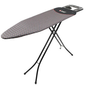 Russell Hobbs LA043153BLK Ironing Board with Jumbo Iron Rest, 122 x 38 cm, Black