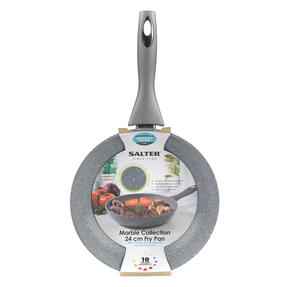 Salter® COMBO-6071 Marblestone Forged Aluminium Non Stick Frying Pan, 24 cm, Grey, Set of 4 | Ideal for Schools, Catering & Student Homes Thumbnail 6
