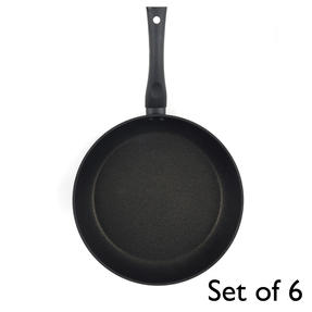 Progress® Non-Stick Diamond Frying Pan, 28 cm, Set of 6   Ideal for Schools, Catering & Student Homes