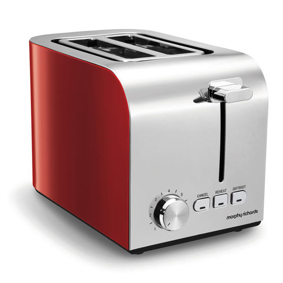 Morphy Richards 222056 Equip 2-Slice Toaster with Cord Storage, Red