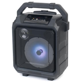 Intempo® EE4551BLKTES Tempo Tailgate Speaker with Microphone Port and LED Lights, 20 W, Black