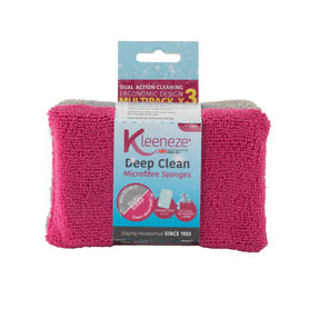 Kleeneze® KL070890EU Deep Clean Microfibre Sponge, Pack Of 3