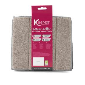 Kleeneze® KL070913EU Microfibre Sponge Cloths . Pack Of 3, Grey Thumbnail 2
