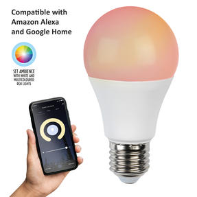 Intempo® Smart Light Bulb, 7 W,  RGB and White