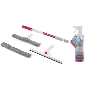 Kleeneze® COMBO-5426 2-in-1 Window Cleaning Set with 750 ml Spray Bottle and Microfibre Cloths
