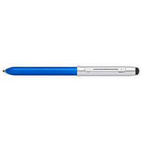 Sheaffer E8937354 Quattro Ballpoint Multipen | Multi-functional | Stylus Feature | Medium Tip | Black, Blue, Red Ink | Blue Thumbnail 1