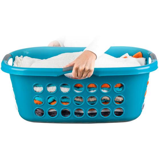 Beldray® Hip Hugger Laundry Basket, 45 Litre Capacity, Turquoise Main Image 2