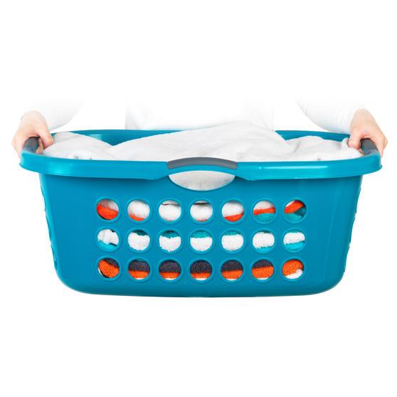 Beldray® Hip Hugger Laundry Basket, 45 Litre Capacity, Turquoise Main Image 4