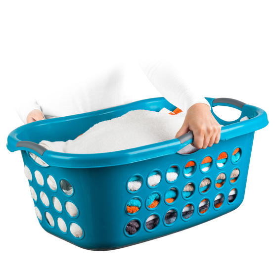 Beldray® Hip Hugger Laundry Basket, 45 Litre Capacity, Turquoise