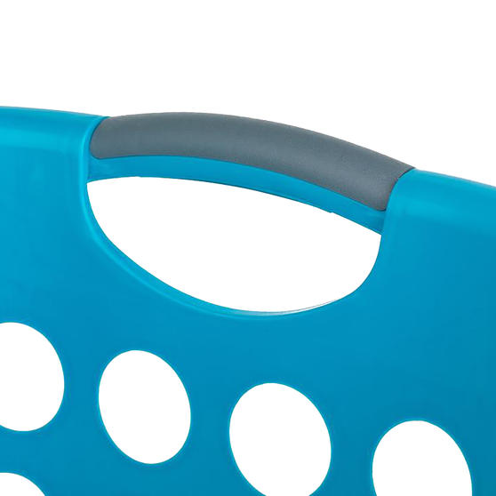 Beldray® Hip Hugger Laundry Basket, 45 Litre Capacity, Turquoise Thumbnail 3