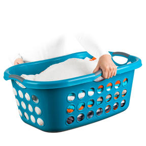 Beldray® LA071835TQEU Hip Hugger Laundry Basket, 45 Litre Capacity, Turquoise