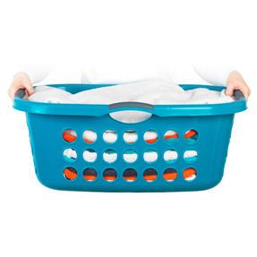 Beldray® LA071835TQEU Hip Hugger Laundry Basket, 45 Litre Capacity, Turquoise Thumbnail 4