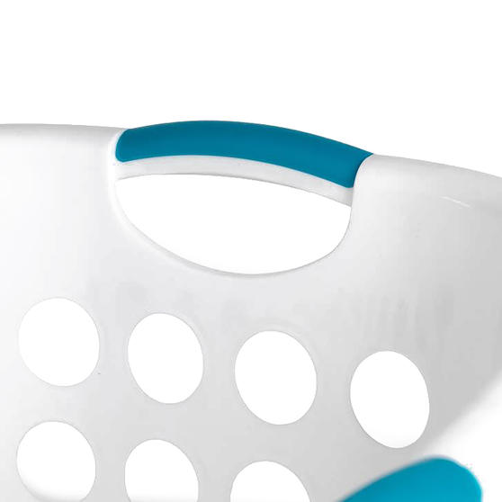 Beldray® Hip Hugger Laundry Basket, 45 Litre Capacity, White Main Image 3