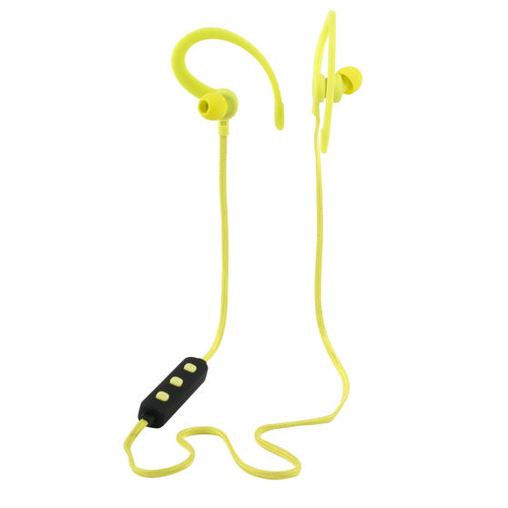Intempo® EE3925YELRDPE Active WSD 50 Bluetooth In-Ear Earphones with Ear Hook | Up to 3 Hours Playtime | Yellow/Black