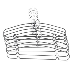Beldray® LA063595GRY Metal Clothes Garment and Trouser Hangers with PVC Non-Slip Coating | Pack of 8 | Grey