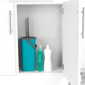 Beldray® LA067234EU Duplex Flat Head Mop and Bucket Set | Built-In Wringer & Dirt-Removing Scraper | Turquoise/Grey Thumbnail 7