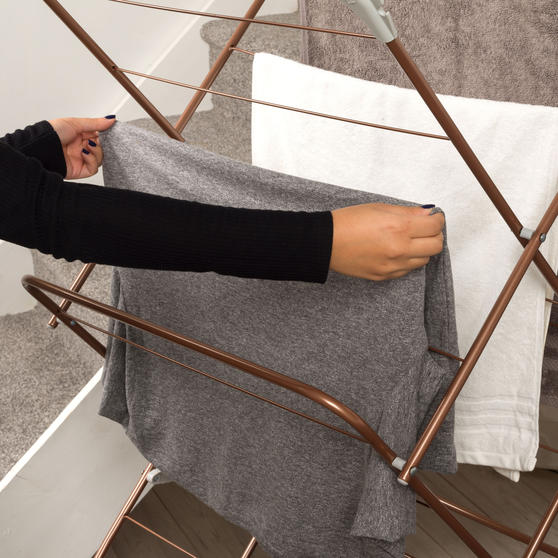 Beldray® Elegant Clothes Airer   15 Metre Drying Space   Rose Gold Thumbnail 6