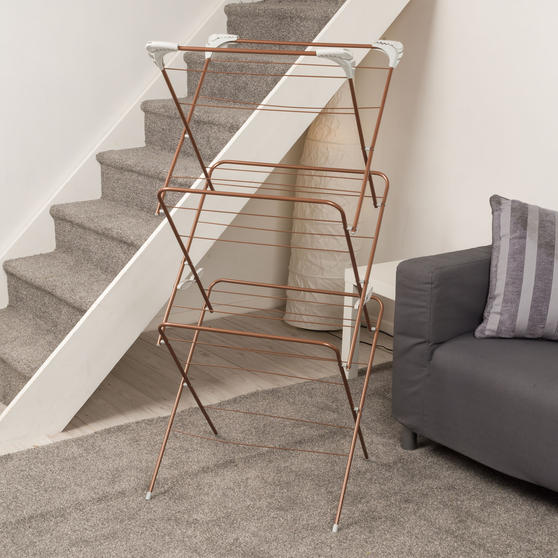 Beldray® Elegant Clothes Airer   15 Metre Drying Space   Rose Gold Thumbnail 7