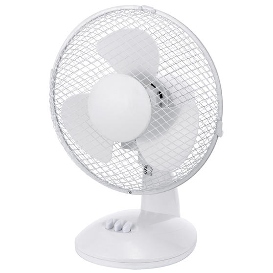 Beldray® Oscillating 9? Desk Fan | Adjustable Head | 2 Speed Settings | 3 Fan Blades | Plastic | 25 W | White Main Image 4