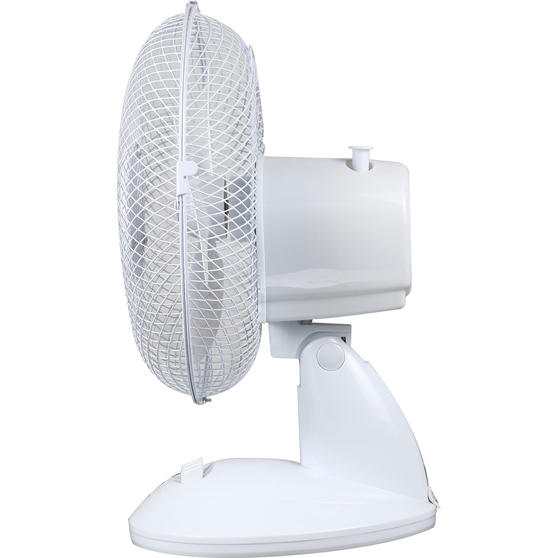 Beldray® Oscillating 9? Desk Fan | Adjustable Head | 2 Speed Settings | 3 Fan Blades | Plastic | 25 W | White Main Image 5