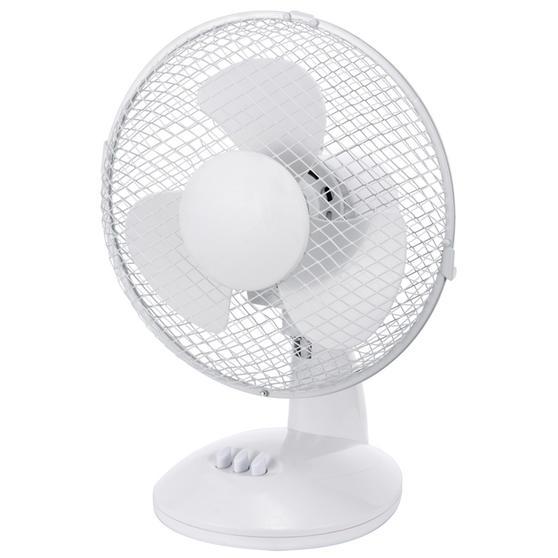Beldray® Oscillating 9? Desk Fan | Adjustable Head | 2 Speed Settings | 3 Fan Blades | Plastic | 25 W | White Thumbnail 4
