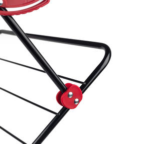 Russell Hobbs LA073785EU Three-Tier Deluxe Clothes Clothes Airer with Shirt Hanging Corners | Red/Black Thumbnail 5