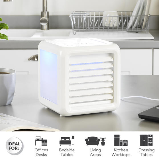 Beldray® Ice Cube Plus Personal Table Top Air Cooler, 600ml, 7 W, White Thumbnail 2